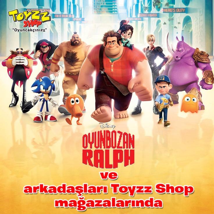 Toyzz Shop raflarında yeni bir karakter! Oyunbozan RalphOyunbozan Ralph filminin oyuncakları sadece Toyzz Shop'ta.