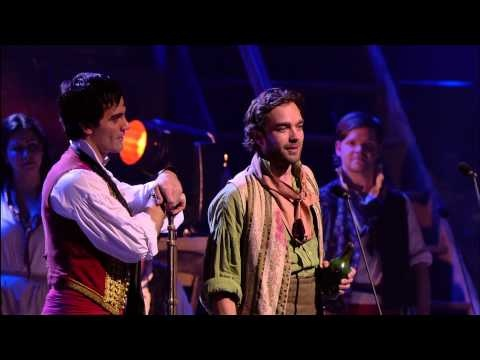 Les Miserables 25th Anniversary Concert - Drink With Me...I love this song. :'( I also love how Enjolras has no lines in the song, yet he's one of the best people in the scene. :)