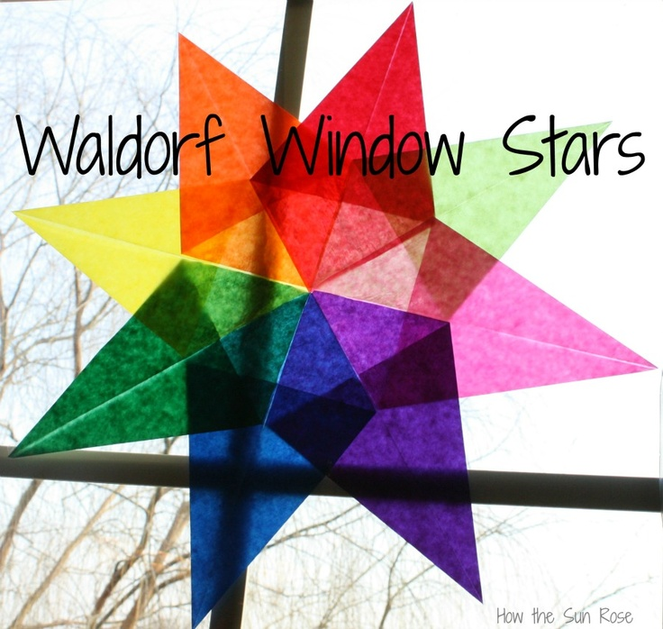 How The Sun Rose: Waldorf Paper Window Star Tutorial & Giveaway These really are such a beautiful way to brighten up at mid-winter. Those Rudolph Steiner teachers have such wonderful ideas!