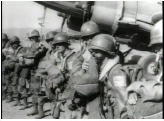 Paratroopers prepare to board planes; Operation Dragoon