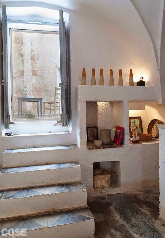 Traditional kitchen interior, Puglia