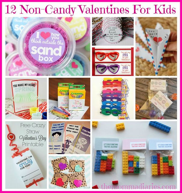 Non-Candy Valentines for Kids, valentines for kids, DIY valentines, non-candy valentine ideas, creative valentines for kids