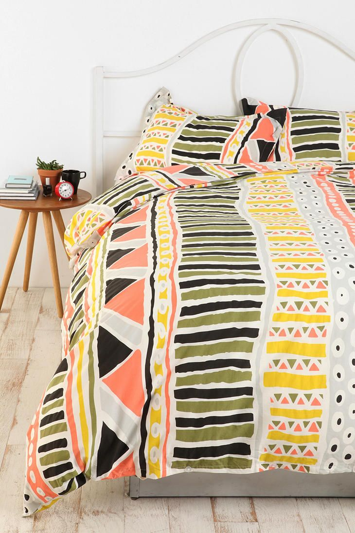 "Bauhaus Stripe Duvet Cover -- ""...really high quality and cute. The colors make it easy to match room accessories and the colors really pop."": Urbanoutfitters, Bedding, Urban Outfitters, Idea, Bauhaus Stripe, Duvet Covers, Stripe Duvet, Stripes, Bedroom"