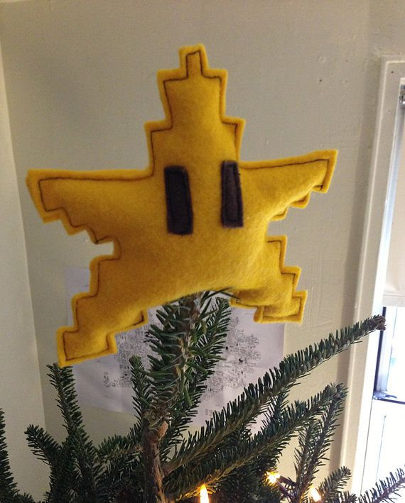 "Super Mario Star - Christmas tree topper - 13 cm/5"""