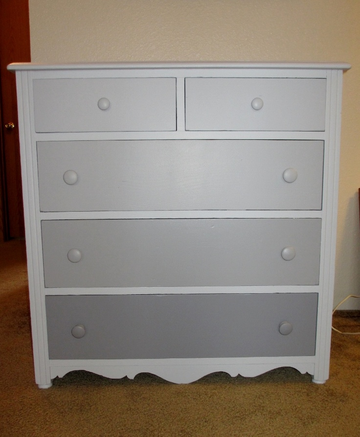 Ombre Dresser White Frame With S In Same Colours As Drawer Fronts