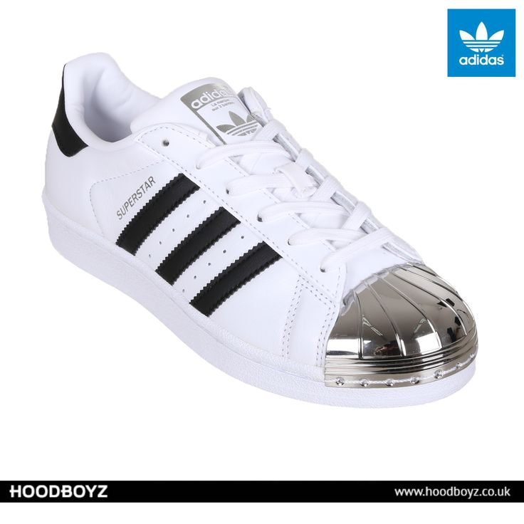 Adidas Shoe Wmns Superstar Metal Toe Low Sneaker White Black 129385 at  Hoodboyz