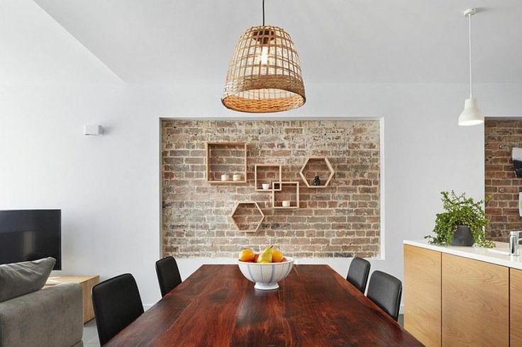 Exposed brick wall in kitchen. http://www.kenisahome.com/blog/kenisa-tips-ins/exposedbrick/