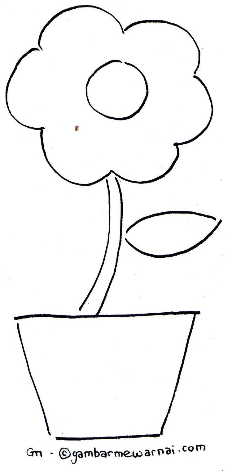 Mewarnai Bunga Sederhana