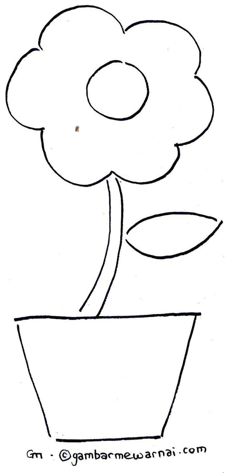 Mewarnai  Bunga Sederhana  Tempat untuk  Dikunjungi Pinterest