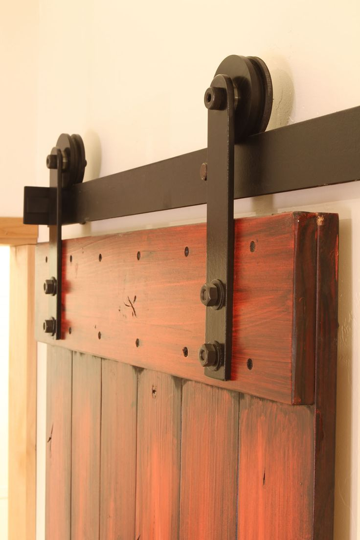 127 best images about barn doors on pinterest sliding for Bedroom barn door hardware
