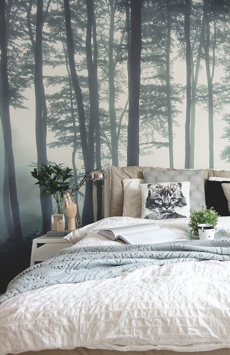 25 b sta forest bedroom id erna p pinterest for Anthropologie enchanted forest mural