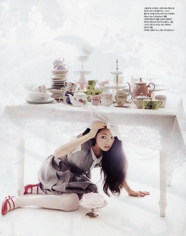 Very Alice in Wonderland: Tea Party, Girl Korea, Alice In Wonderland, Tea Parties, Fashion Editorial, Vogue Korea