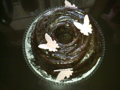 Top view of roes cake