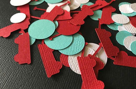 Red Wagon Party Confetti Red Wagon Confetti Red and Aqua