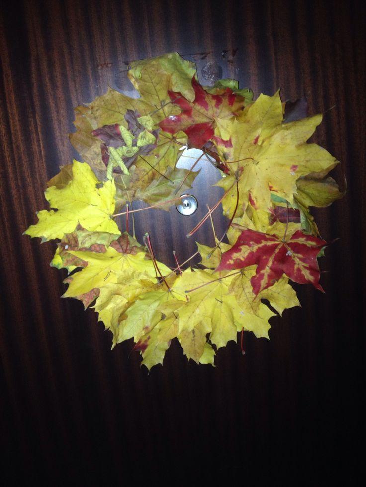 Én készítettem. :) Őszi ajtódísz. Tetszik?