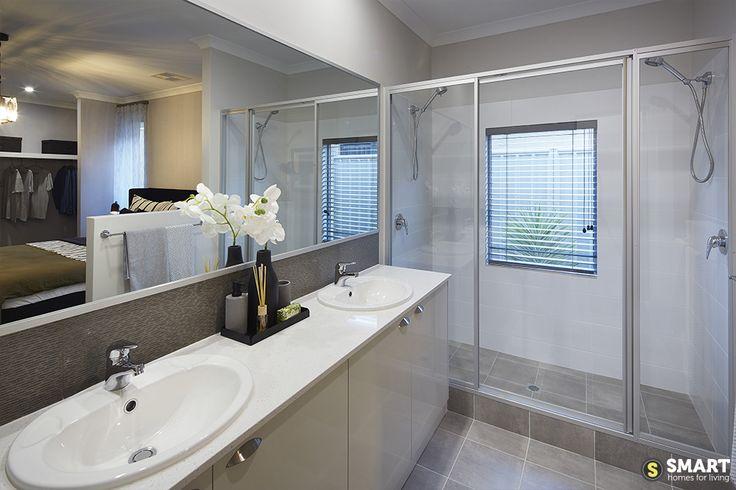 Modern double basin ensuite
