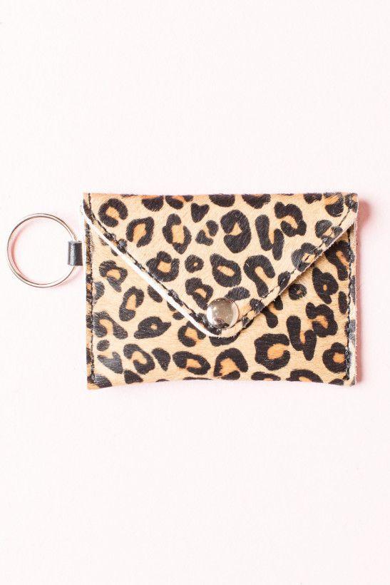 Cheetah Print Pony Hair Keychain Wallet | Wardrobe Wishlist