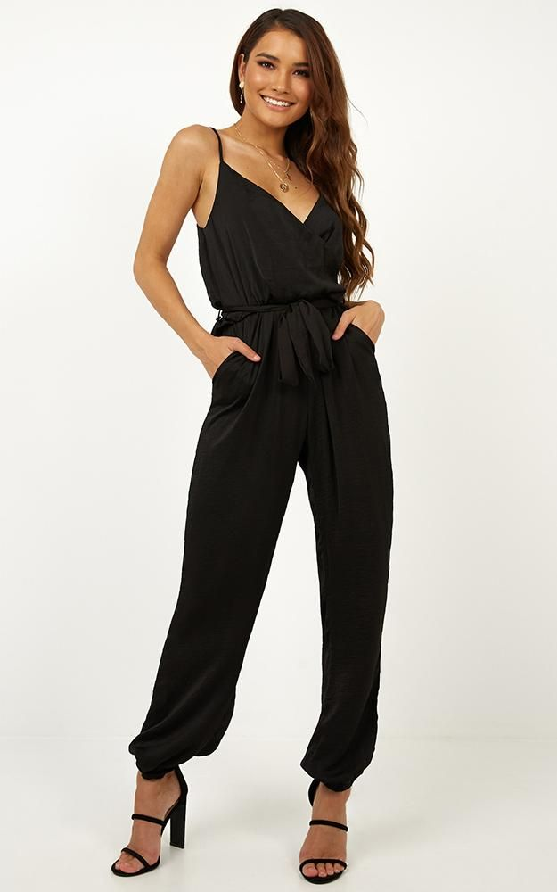 a424db62481 Pompeii Jumpsuit in Black Produced By SHOWPO