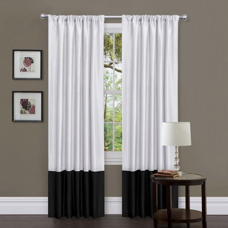 White Window Treatments Part - 47: Lush Decor Milione Fiori Window Panel Pair Black/White - For The Home - Window  Coverings U0026 Hardware - Drapes U0026 Panels