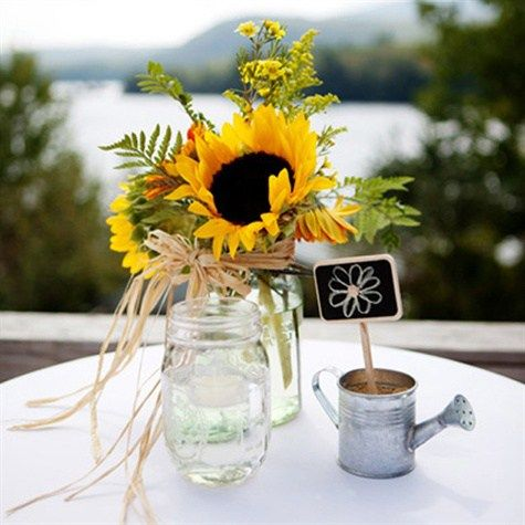 Best 25+ Rustic sunflower centerpieces ideas only on ...