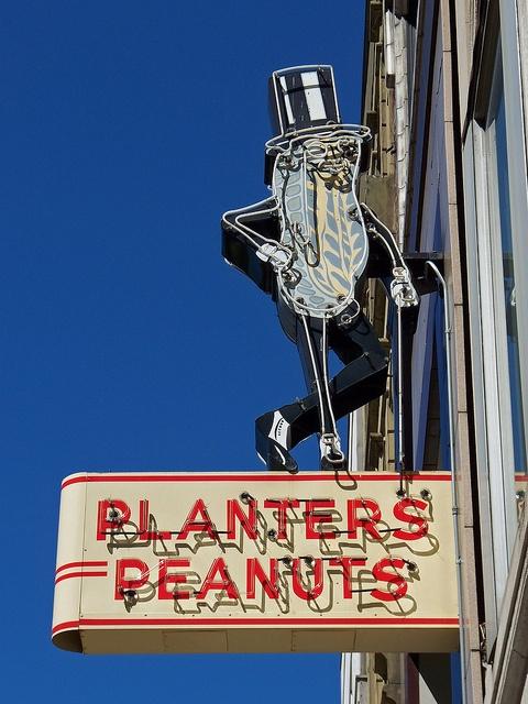 Planters Peanuts....Iconic Neon Sign. Columbus, Ohio.