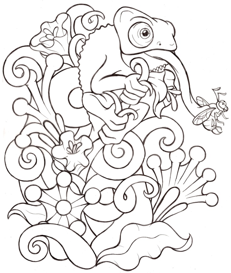 Chameleon Outline Tattoo: 17 Best Images About Tattoo Ideas On Pinterest