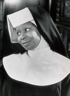 "Whoopie Goldberg As sister Mary Clarence in ""Sister Act."""