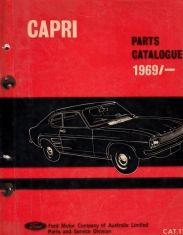 Capri v6 & 4cyl 1970 1971 australian parts catalog illustrated