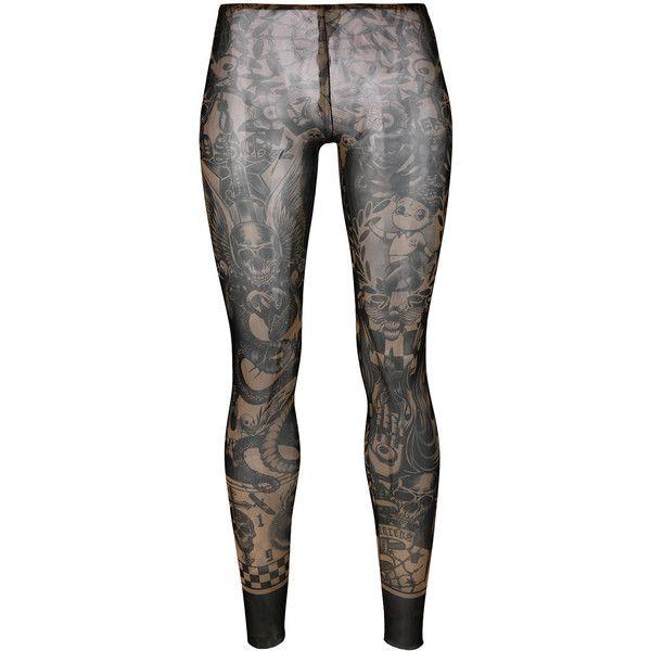 Dsquared2 printed leggings (€170) ❤ liked on Polyvore featuring pants, leggings, black, lycra pants, spandex pants, lycra leggings, dsquared2 and legging pants