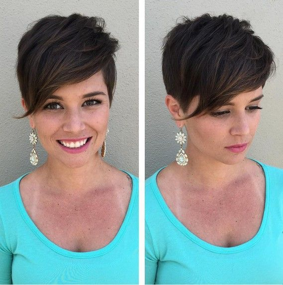 Beautiful Pixie Haircut with Straight Hair - Cute Aymmetrical Short Hairstyles for Women