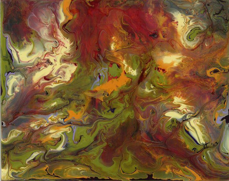 Magma / Peinture vitrail et céramique