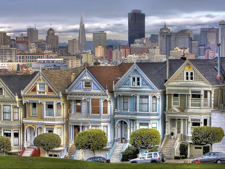 San Francisco Houses HDR wallpaper