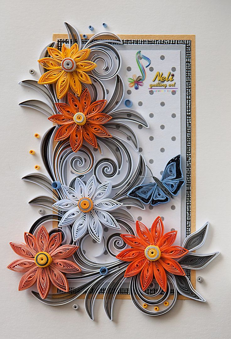 Neli quilling art quilling card purple flowers - Neli Quilling Art Quilling Cards 14 8 Cm 10 5 Cm