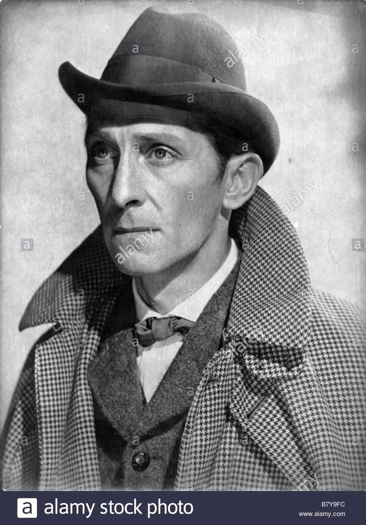 Peter Cushing as Sherlock Holmes in The Hound of the Baskervilles (1959) Stock Photo