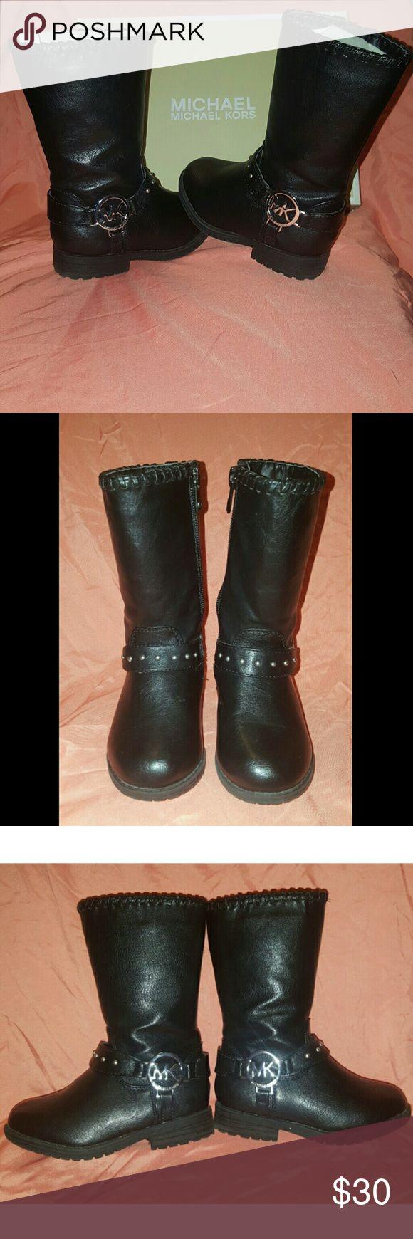 "MK Lil Carlita Toddler Girls Boots Michael Kors ""Lil Carlita"" Boots Pre-owned (excellent condition) Zipper Closure  w/ORIGINAL BOX Michael Kors Shoes"