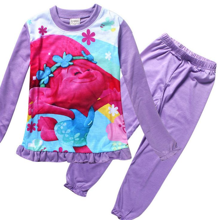 >> Click to Buy << 2017 New Elf Trolls Baby Girls set Children Clothing Kids suits Cartoon Homewear Sleepwear Pyjamas sets Outfit Clothes 3-12Y #Affiliate
