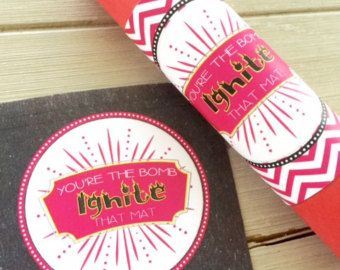 Cheerleading Good Luck Favor Tags Cheer Gifts by EllaJaneCrafts