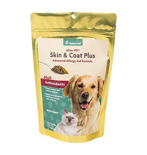 Naturvet Aller 911 Haut Und Fell-Allergie-Hilfe-Pulver Omega 3 Und 6, Hund, Katze 9 Unzen