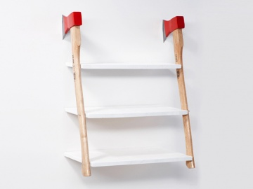 hatchets shelf... For the fire engine bathroom! This would be amazing!