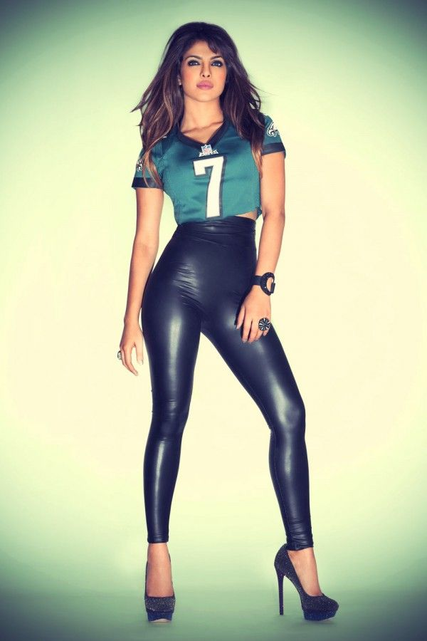 Eagles Black Jersey Green Pants >> Priyanka Chopra in NFL Jersey Promo Shoot | Celebs in leather | Pinterest | Simple, Photos and ...