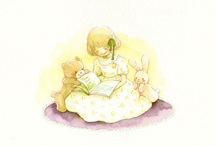 "Eriko Kurita (In the Pocket), ""つづきをはやくよんでよ!"" (""Read Faster!""). ^_^"