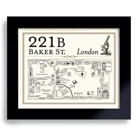 Sherlock BBC, 221B Baker Street, Holmes Art, Dart Player