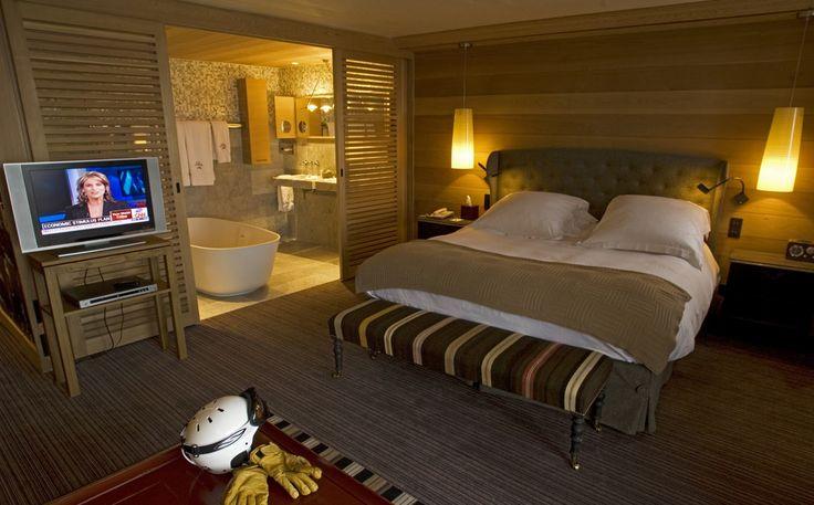 Le Blizzard Hotel vedi porte a scorrimento tipo persiane tra letto e bagno