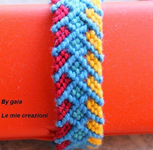 Le mie creazioni: Braccialetto macramè lisca colorata