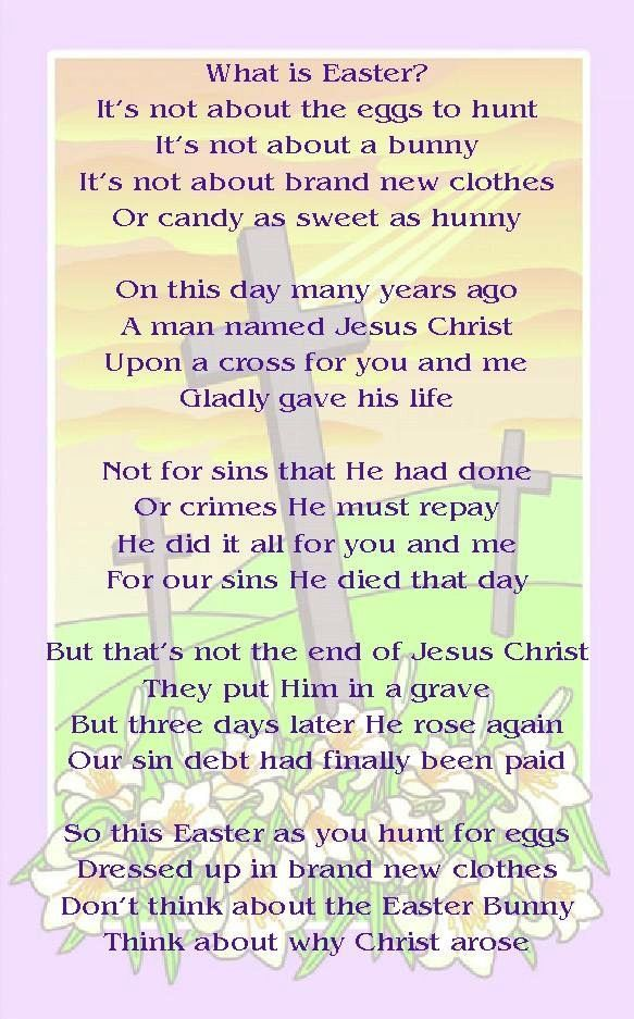 easter speeches for youth at church in 2020 Easter poems