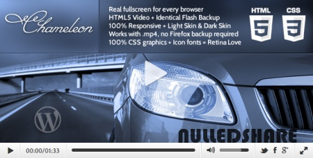 Chameleon – HTML5 Video Player for WordPress V1.0 » Nulled Scripts, php, WSOs - NulledShare.com