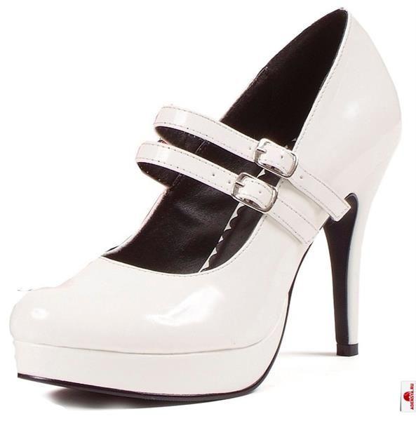 Фото детские белые туфли на каблуке и ремешке