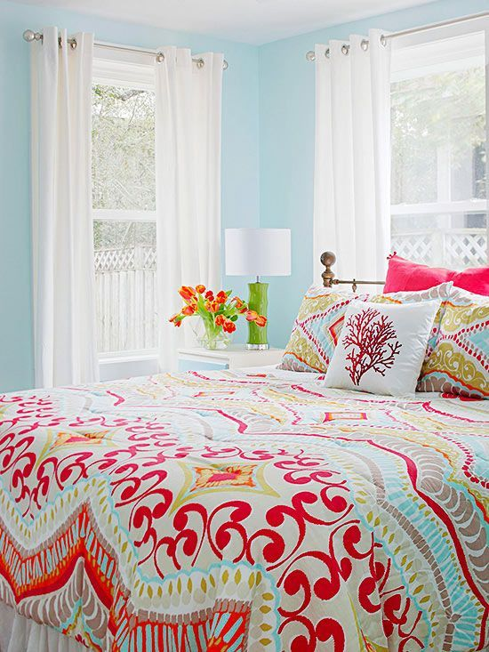real life colorful bedrooms - Bright Color Bedroom Ideas