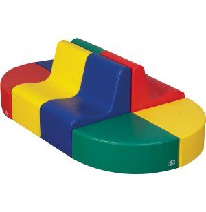 "8-Pc Contoured Train Station CFC-705704 - These great pieces are made from urethane foam encased in an easy-to-clean, reinforced vinyl cover. The big colorful pieces are very ""kid-friendly"" and provide the perfect settings for active play as well as individual or group seating."