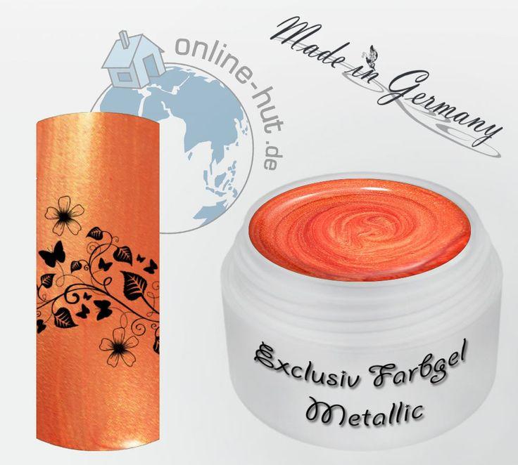 5ml UV Exclusiv Farbgel Neu Golden Red Metallic